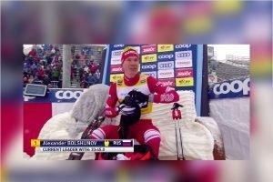 Александр Большунов «порвал» норвежца Клебо на 15 км свободным стилем в Нове-Место