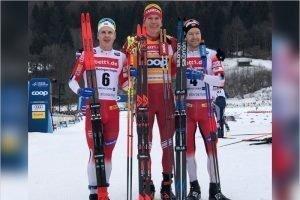 Александр Большунов выиграл скиатлон на этапе Кубка мира в Оберстдорфе