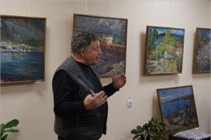 Проект «Галерея театра кукол»: встреча сварщиков и художников с живописцем Николаем Борисенко