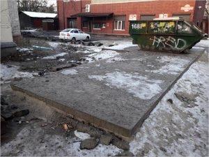 Работы  по реконструкции контейнерных площадок в Брянске на 30 млн. рублей провалены