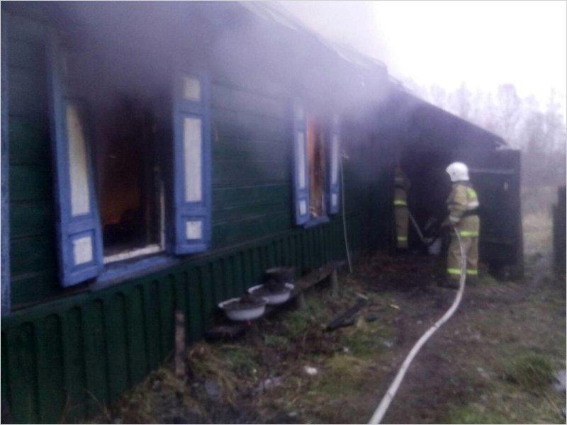 В красногорской деревне сгорел жилой дом. Жертв нет