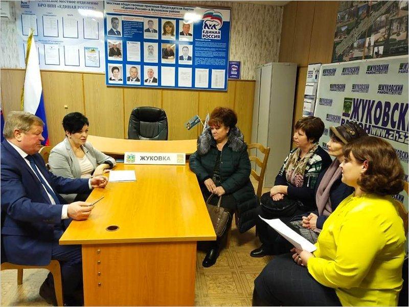 Валентина Миронова привезла ответы по горячему питанию в Жуковский район