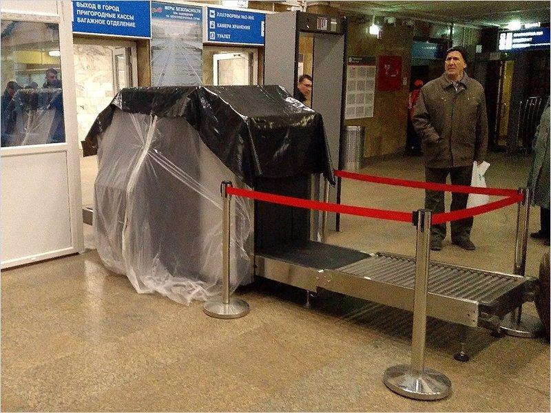 Показуха на вокзале Брянск-Орловский: установлены неработающие пункты досмотра багажа