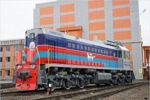 Восемь тепловозов производства БМЗ прибыли в Монголию