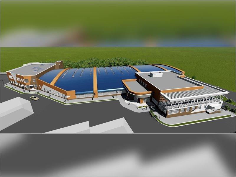 Руководство БГУОР показало руководству области площадку под будущий легкоатлетический манеж