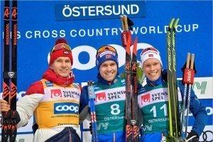 Александр Большунов стал вторым в гонке преследования на «Ски туре»