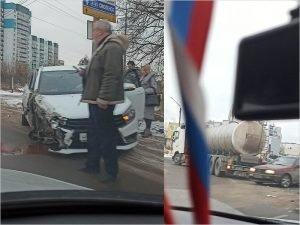 Водитель, попавший в ДТП на Камвольном повороте, ищет свидетелей с видеорегистратором