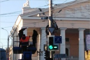 На главном перекрёстке в центре Брянска повесили камеры видеофиксации