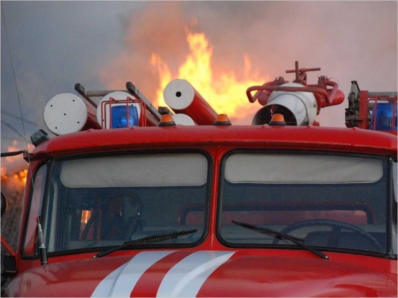 В стародубской деревне утром в среду сгорело целое подворье. Жертв нет