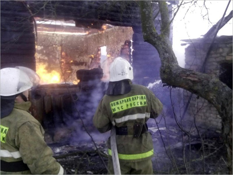 В красногорском селе сгорел жилой дом