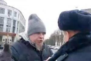 Брянская полиция задержала пикетчика, который протестовал против «задержания Коломейцева фашистами»