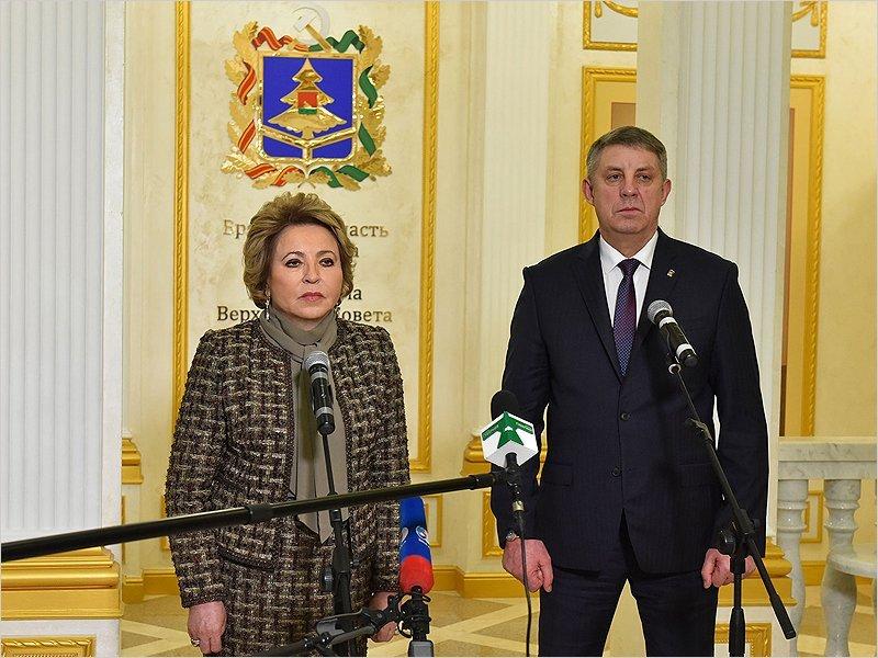 Валентина Матвиенко: «Вопросы, которые поставлены передо мною губернатором, будут, безусловно, отработаны и поддержаны»