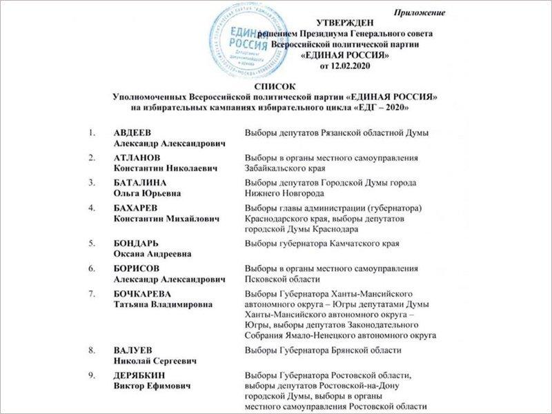Валуев будет курировать от «ЕР» осенние выборы брянского губернатора