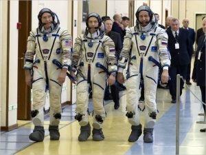 Андрей Бабкин сдаёт экзамены на Байконуре в составе дублирующего экипажа «Союза МС-16»