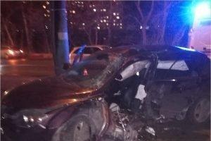 Подробности ночной аварии в Брянске: двое пострадавших были непристёгнуты