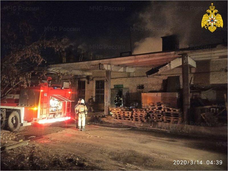 Брянские пожарные победили огонь на территории бывшего хладокомбината