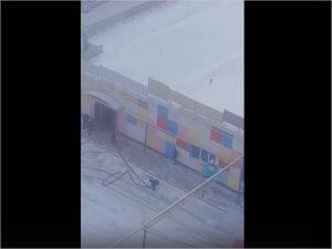 Брянские пожарные тушили супермаркет «Варяг» в Советском районе