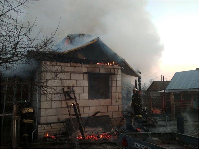 Сгорел дом в Верном Пути под Брянском. Жертв нет