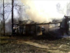 В рогнединской деревне сгорел жилой дом