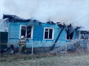 В дятьковском посёлке Ивот сгорел дом. Жертв нет
