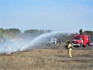 В двух местах Брянской области условно потушены условные пожары на краю леса