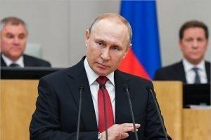 Владимир Путин заявил, что Россия спокойно и достойно пройдет турбулентный период