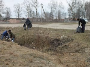 Студенты и активисты ОНФ очистили аэродром «Бежица» от мусора