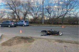 В Брянске  мотоциклист получил черепно-мозговые травмы в ДТП