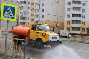 В Брянске началась дезинфекция дорог гипохлоритом натрия
