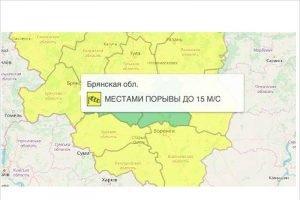 В Брянской области объявлен жёлтый уровень опасности на 1 апреля