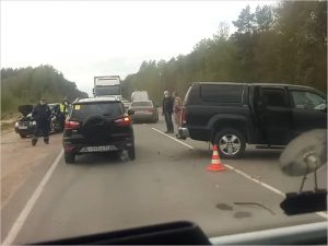 В ДТП на объездной вокруг Брянска женщина-водитель получила тяжёлые травмы головы