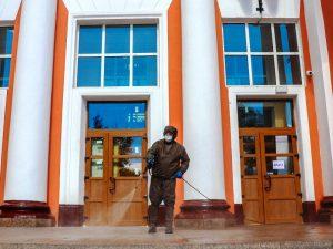 В Брянске проведена повторная дезинфекция помещений железнодорожного вокзала