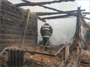 В посёлке Ржаница под Брянском ночью дотла сгорел дом