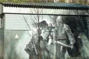 «Россети Центр» украсили подстанции праздничными граффити к 75-летию Великой Победы