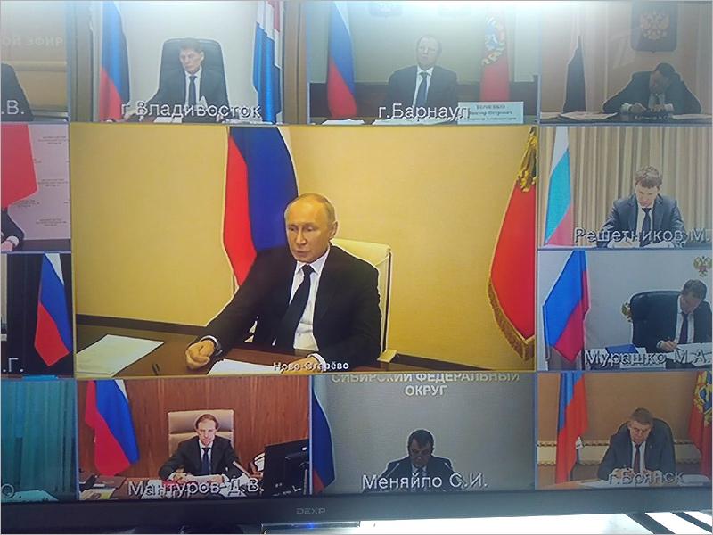 О снятии ограничений с 12 мая: Путин – проведёт совещание, Богомаз – «посмотрим»