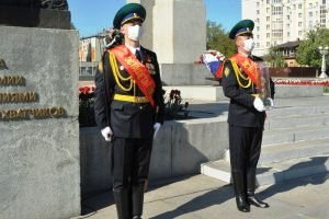 Символ эстафеты Победы путешествует по границам Брянской области