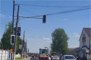 На улице Щукина в Брянске смонтирован светофор