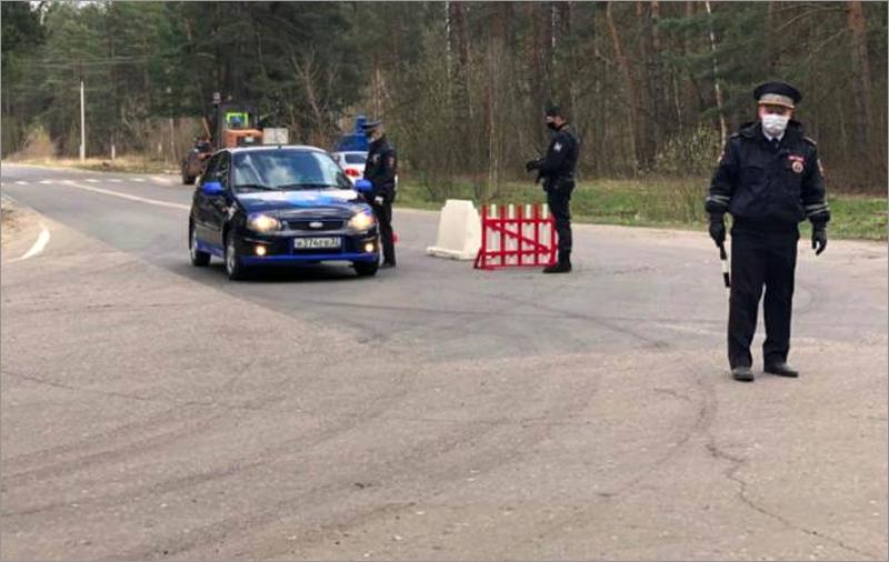 На въездах в Сельцо сняты полицейские контрольные посты