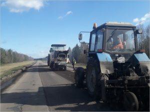 Трубчевские дорожники завершили ремонт участка автотрассы на подъезде к райцентру