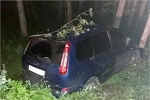 На местной дороге под Злынкой пьяный водитель не вписался в перекрёсток