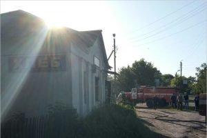 В климовском селе рано утром сгорел магазин
