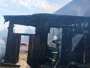 В жуковской деревне воскресным утром сгорела пилорама