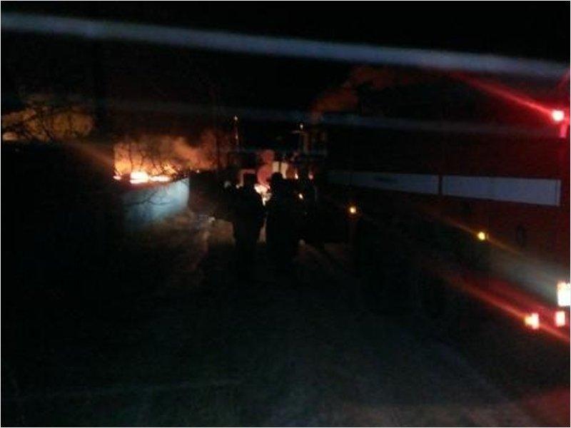 В Мглине сгорел магазин «Удача». Местные предполагают поджог