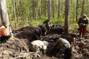Новгородские поисковики обнаружили останки брянского красноармейца