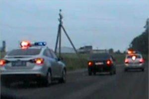 В Брянске пьяный водитель догнался через полгорода. Гаишниками