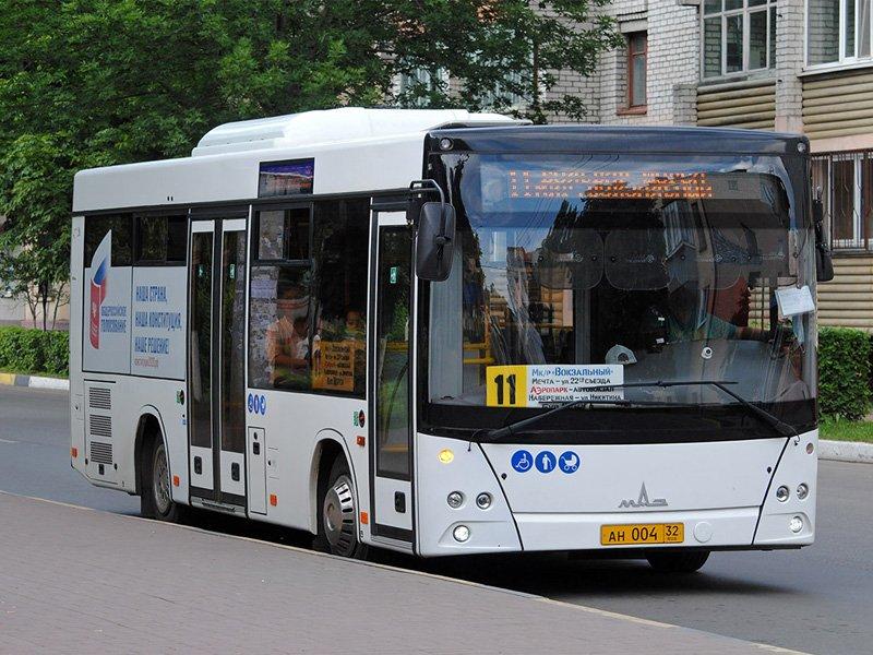 Брянские транспортники скорректировали расписание автобуса №11
