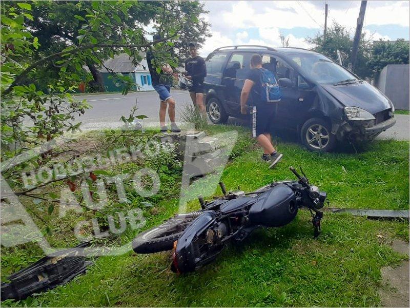 В Новозыбкове получил травмы головы подросток-мотоциклист