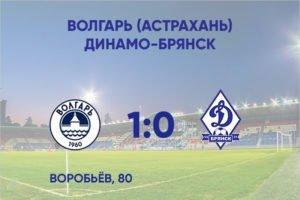 Брянское «Динамо» минимально проиграло в контрольном матче «Волгарю»