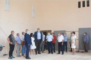 В брянской деревне Добрунь завершается ремонт спортзала местного лицея