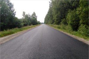 Завершается капремонт дороги между райцентром Дятьково и Любохной